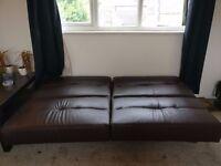 FREE Brown Flat Sofa / Sofa Bed