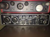 Audio Interface Focusrite Scarlett 2i2 & Beringher U-PHORIA UMC204HD