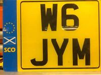 Private number plate W6 JYM
