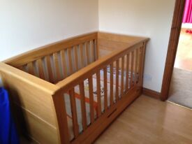 Mamas and Papas Ocean range cotbed - solid oak - RRP£750