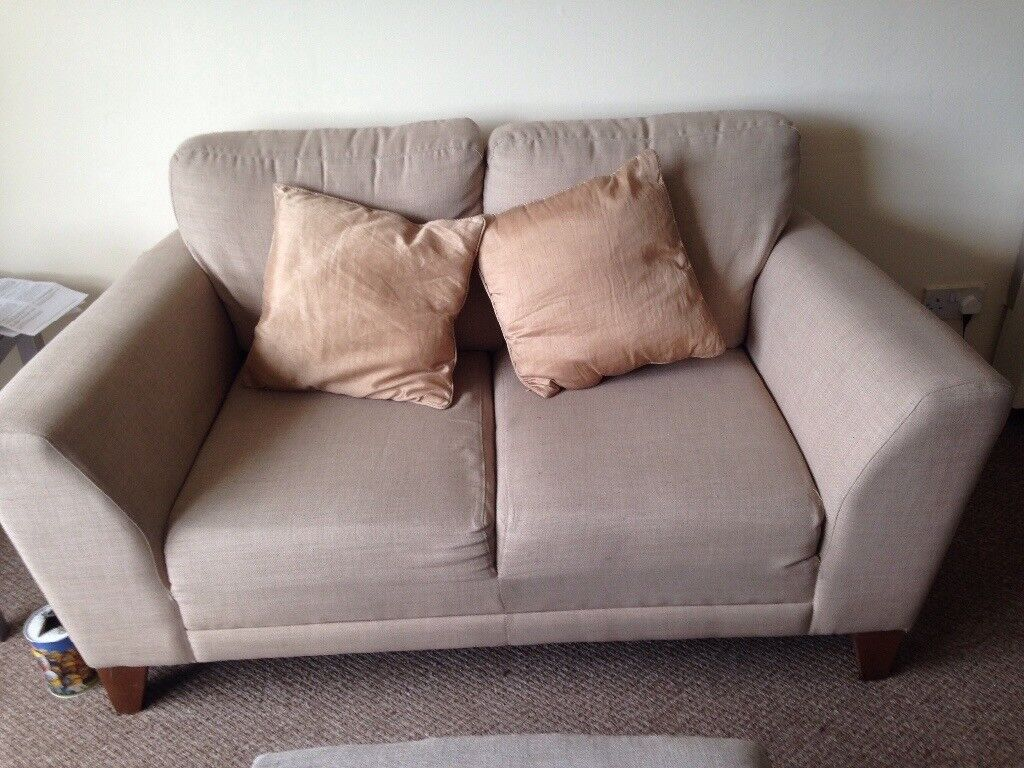 Barker and stonehouse 2 seater sofa and puffe