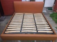 Super King Leather bed frame in great condition ready for collection (Barking & Dagenham)