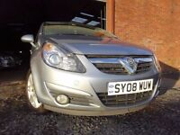 08 VAUXHALL CORSA DESIGN CDTI DIESEL 1.3,MOT MARCH 018,3 OWNERS FROM NEW,2 KEYS,PART HISTORY
