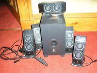 Set of Logitech speakers