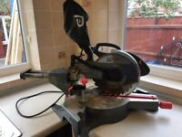 Slide compound mitre saw, electric. USED