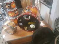Pearl masters series 5 piece kit one owner
