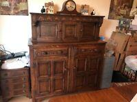Solid oak sideboard/dresser