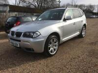 BMW X3 M SPORT 3.0 DIESEL 5 DOOR SUV SILVER HPI CLEAR FULL HISTORY PART EX WELCOME