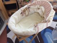 Mamas and Papas Moses basket + other items