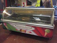 Ice cream display freezer.