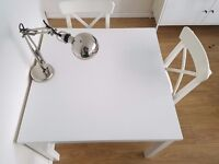 Ikea extendable dining table + 2 chairs - in great condition