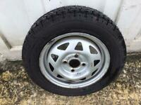 Vauxhall Nova wheel an unused tyre 155/70 x 13""