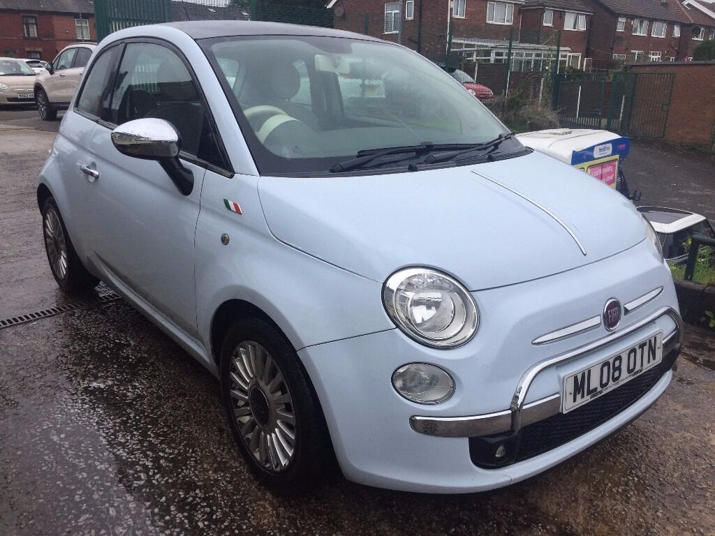 Fabulous Value 2008 Fiat 500 Lounge Finished in Baby Blue with Cream Interior 85400 Mile Sept 17 ...