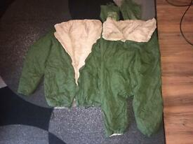 BRITISH REVERSIBLE SOFTIE JACKET AND TROUSERS / COLD WEATHER