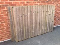 3 fence panels