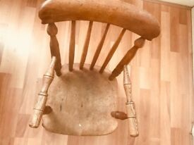 Child's antique spindle back chair.