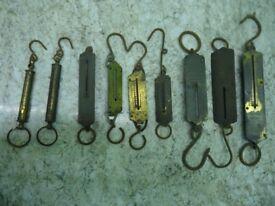 9 Antique Pocket Balance Scales