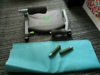 Fitness machine with mat