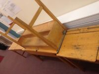 Old school desks for sale,solid wooden with lift up lids
