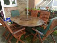 Garden Furniture Table & 6 Chairs