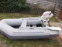 waveline dinghy with 4hp 2stoke