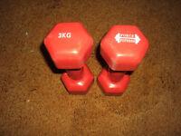 2 x 3kg Neoprene Dumbells