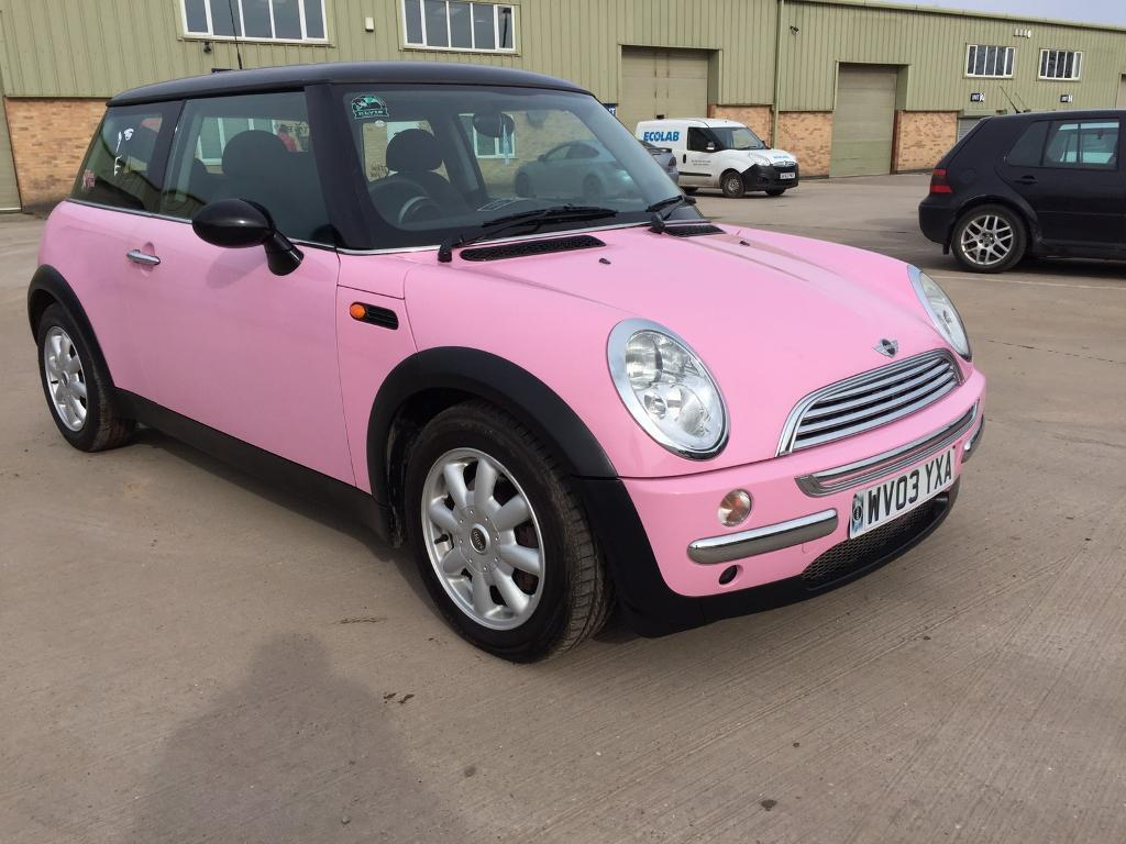 Pink Mini Cooper One 66k Mot D 1 6 Automatic Chrome Pack