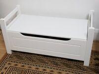 Lovely white storage bench