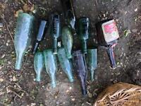 Lot of old antique Norwich/cardiff/etc bottles