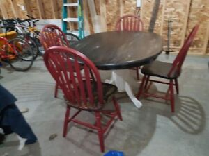 Sold wood chairs and table