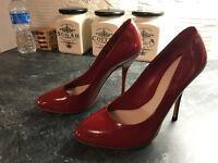 NEW Designer Gucci Red Patent Leather High Heel Pump uk4 eu37 rp£499