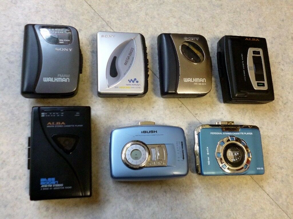 Collection of Personal Radio/Cassette Players
