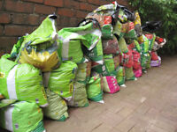 36 part-filled bags of garden earth free to anyone who collects some or all of them