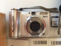 Canon PowerShot A630 camera with a perfect lens kit