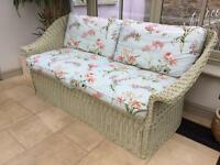 Conservatory wicker sofa