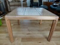 Retro Teak and Tile Square Coffee Table