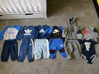 Baby Nike and Adidas clothes bundle