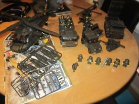 lego compatible, army vehicles ,made by oxford
