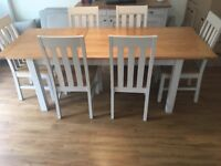 M&S extendible table and chairs