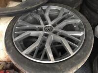 "18"" VW SANTIAGO ALLOY WHEELS 5x112 fit vw audi skoda seat"