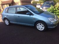 2002 Honda Civic 1.6 Petrol Low mileage Full Leather lovely !