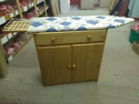 Solid Pine, Ironing board cupboard and drawer combo, great space saving solution, just £39