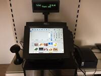 POSLIGNE 12 inch touchscreen epos till with barcode scanner and receipt printer