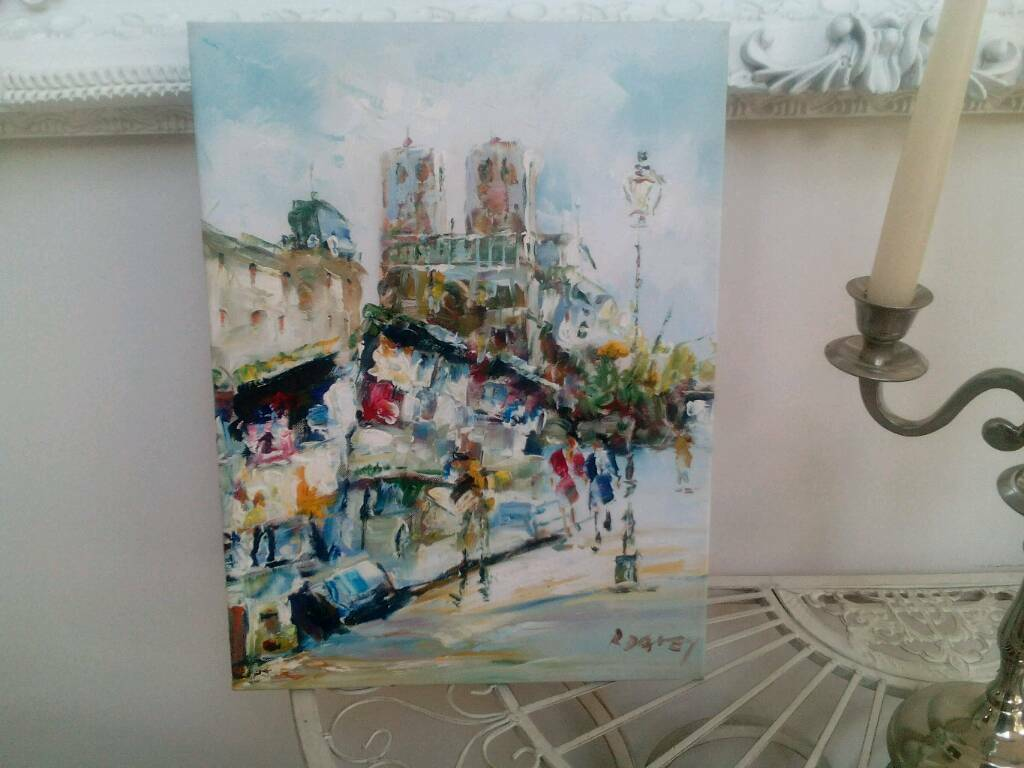 Oil painting by r davey of paris