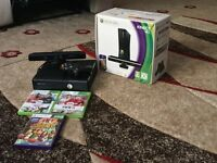 Xbox 360 4GB with 3 games and a controller