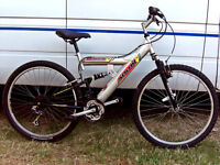 ADULTS 18SPD FULL SUSPENSION MOUNTAIN BIKE JUST BEEN SERVICED AND SAFETY CHECKED