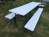 German beer Keller folding table & bench set