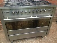 Technik Silver Range Gas Cooker dual free Delivery ....90cm. Bargain