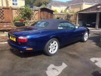 2001 XK8 convertible,blue with ivory trim. FSH 107000 miles. One previous owner ,plate not included