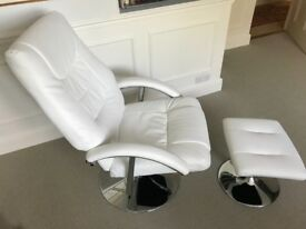 Recliner Swivel Chair with Foot Stool